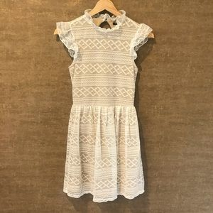 Vintage Ruffle Neck Dress by Penelope Tree